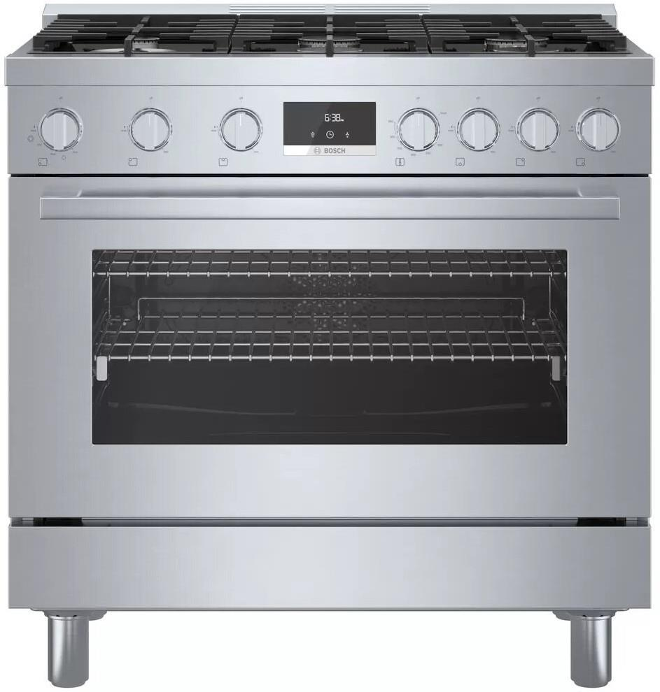Bosch 800 Series HGS8655UC 36 Inch Freestanding Gas Range with 6 Sealed Burners - ALSurplus AL