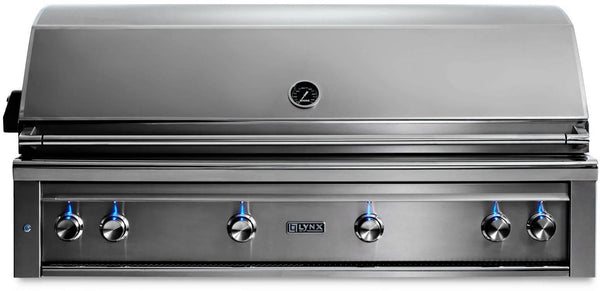 "Lynx Professional Grill Series 54"" 1555 sq.in. Surface SS Built-In Grill L54TRLP"
