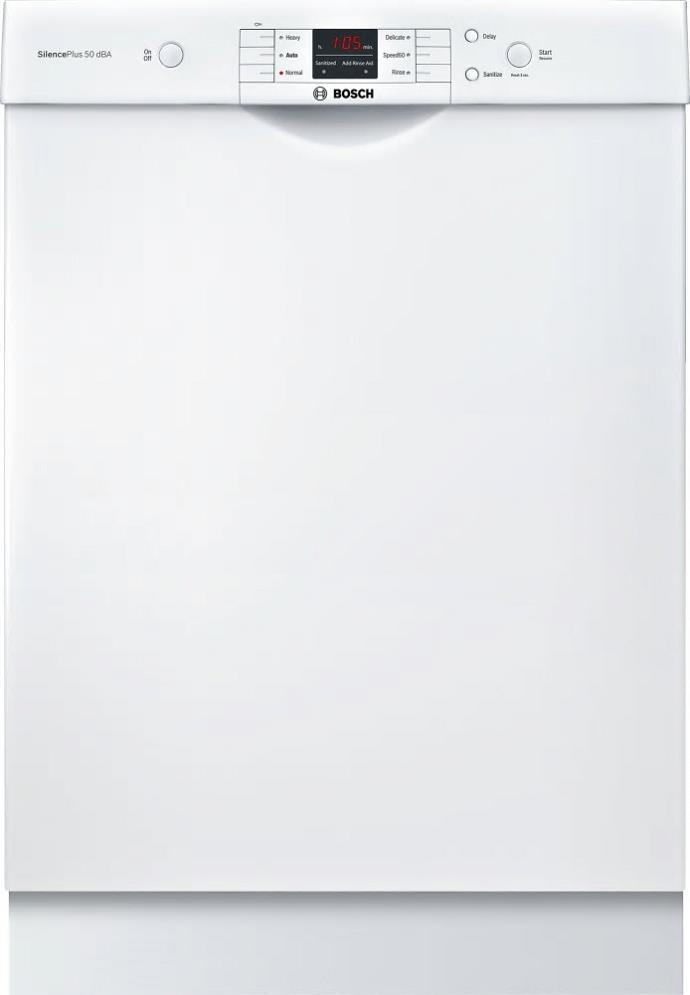 "Bosch 100 Series SHEM3AY52N 24"" Full Console Built-In Dishwasher 14Place Setting - ALSurplus AL"