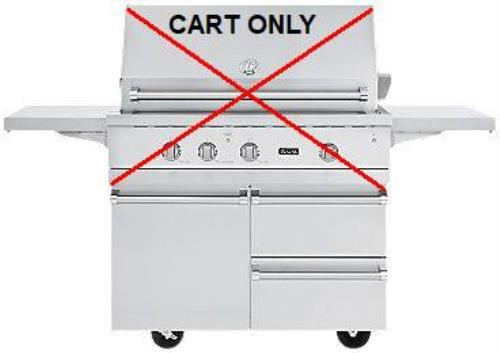 NIB Viking 42 Inch Stainless Grill Cart with Storage Drawers & Shelves BQC5421SS - ALSurplus AL