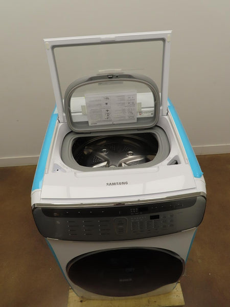 "Samsung FlexWash 27"" WHT Swirl Drum Design Front Load Smart Washer WV60M9900AW - ALSurplus AL"