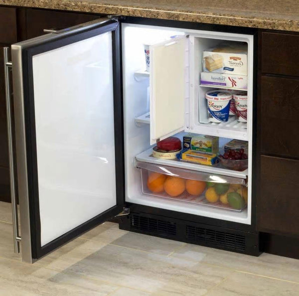 "NIB Marvel ML24RFS2LS 24"" Built-in Compact Refrigerator/Freezer Stainless Steel - ALSurplus AL"