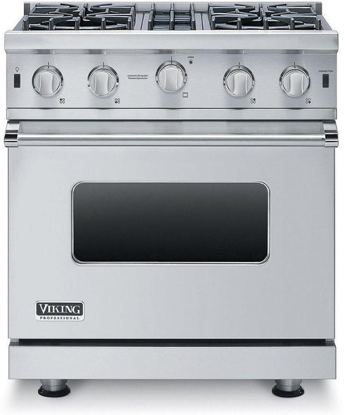 "Viking 5 Series VGIC53014BSS 30"" ProStyle Gas Convection Range VeryGoodCondition"