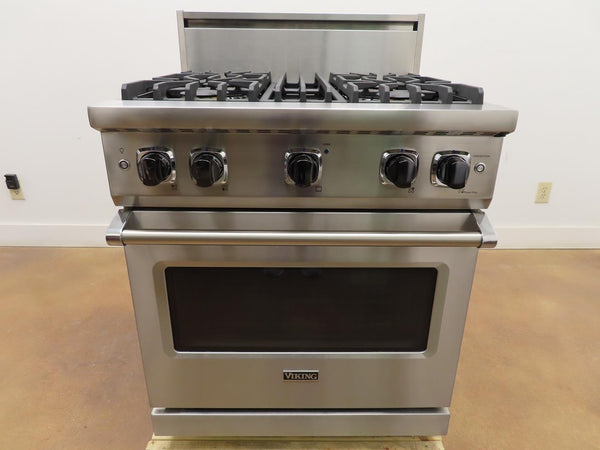 "Viking Professional 5 Series 30"" 4 Burners Gas Range VGR5304BSS 2019 Model"