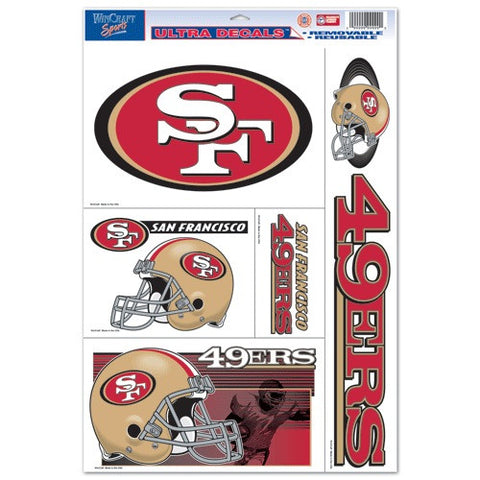 San Francisco 49ers Decals Window Clings