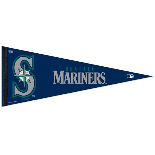 Seattle Mariners Pennant MLB Baseball Full Size (2-Pack)
