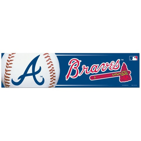 Atlanta Braves Bumper Sticker (2-Pack)