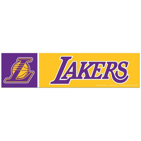 Los Angeles Lakers Bumper Sticker (2-Pack)