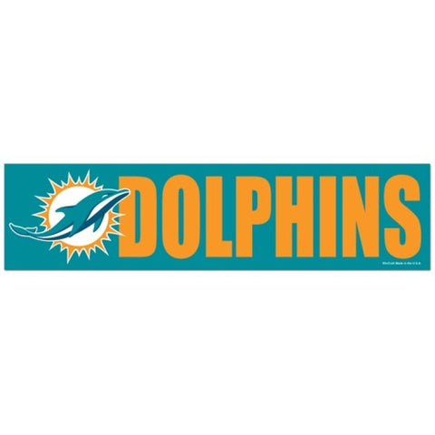 Miami Dolphins Bumper Sticker (2-Pack)