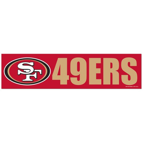 San Francisco 49ers Bumper Sticker (2-Pack)