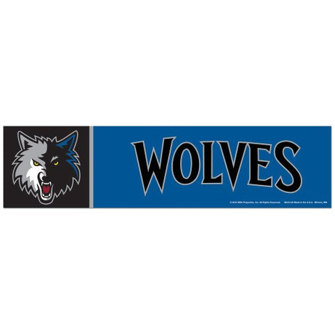 Minnesota Timberwolves Bumper Sticker (2-Pack)