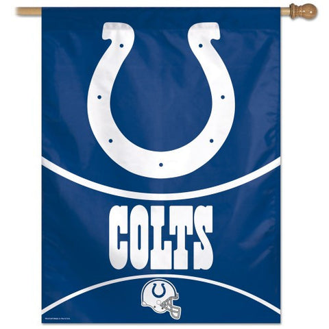 Indianapolis Colts Vertical Flag Banner