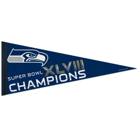 2014 Seattle Seahawks Super Bowl XLVIII Champions Pennant (Out of Print!)