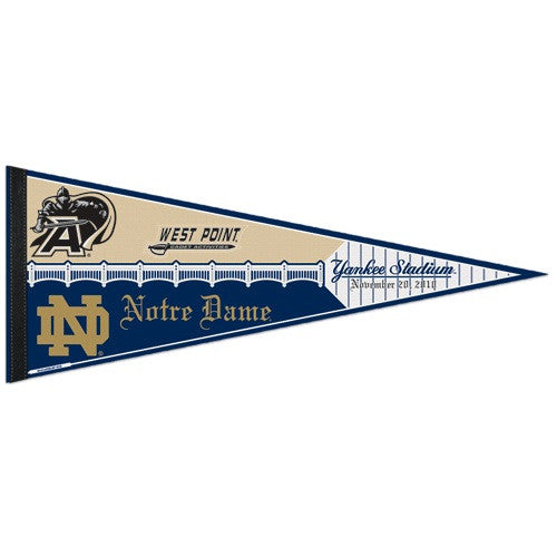 2010 Army vs. Notre Dame at Yankee Stadium Limited Edition Dueling Pennant (Out of Print!)