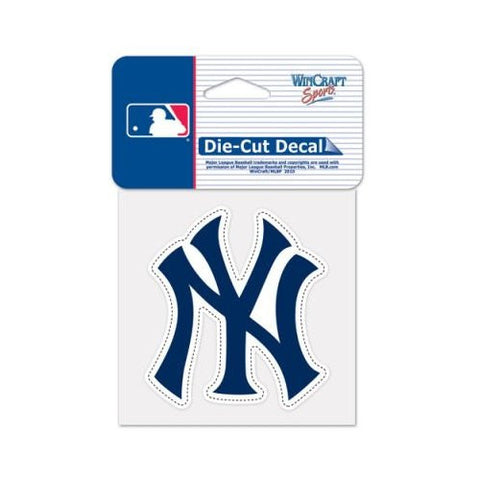 New York Yankees Full Color Car Window Sticker Decal 4x4 Inches