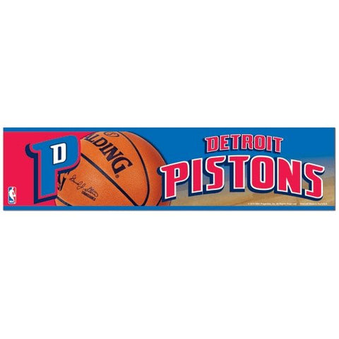 Detroit Pistons Bumper Sticker (2-Pack)