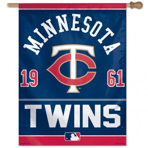 Minnesota Twins Vertical Flag Banner