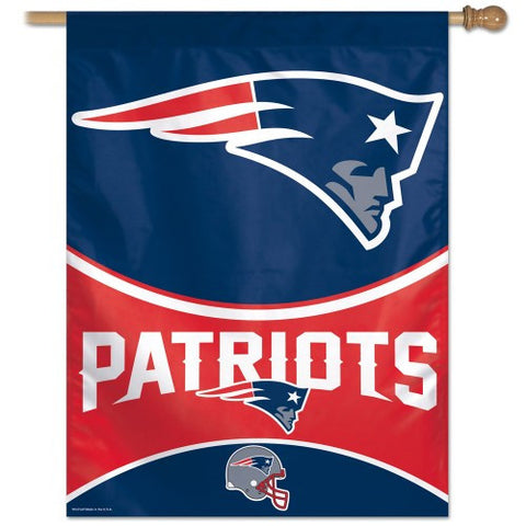 New England Patriots Vertical Flag Banner