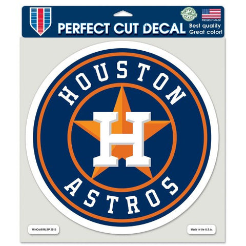Houston Astros Full Color Car Window Sticker Decal 8x8 Inches