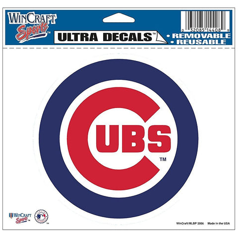 "MLB Chicago Cubs Ultra Color Decal, 5""x6"", Team Color"