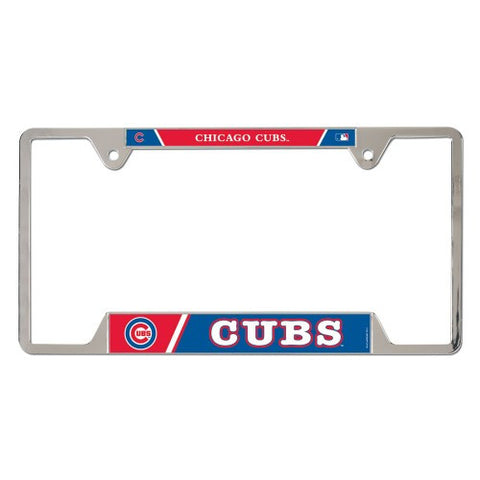 Chicago Cubs Metal License Plate Frame