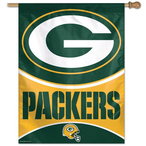 Green Bay Packers Vertical Flag Banner