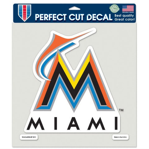 Miami Marlins Full Color Car Window Sticker Decal 8x8 Inches