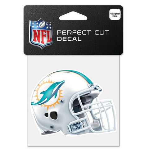 Miami Dolphins Full Color Car Window Sticker Decal 4x4 Inches