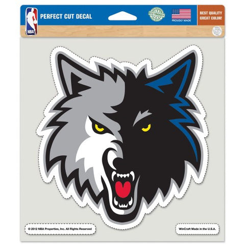 Minnesota Timberwolves Full Color Car Window Sticker Decal 8x8 Inches