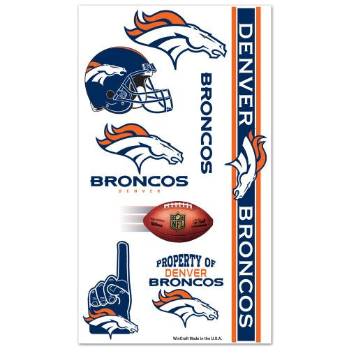 Denver Broncos Temporary Tattoo