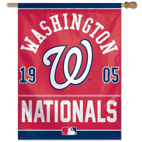 Washington Nationals Vertical Flag Banner