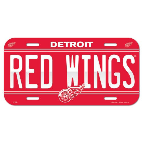 Detroit Red Wings License Plate