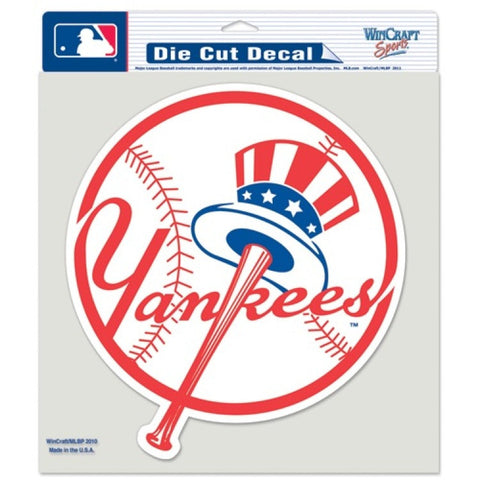 New York Yankees Top Hat Logo Full Color Car Window Sticker Decal 8x8 Inches