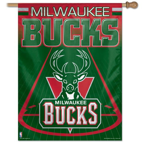 Milwaukee Bucks Vertical Flag Banner