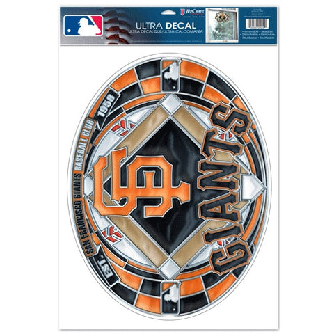 San Francisco Giants Stained Glass Look 11x17 Oval Decal Window Sticker