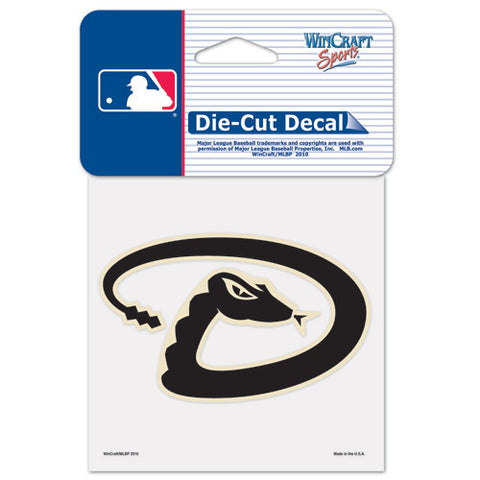 Arizona Diamondbacks Full Color Car Window Sticker Decal 4x4 Inches