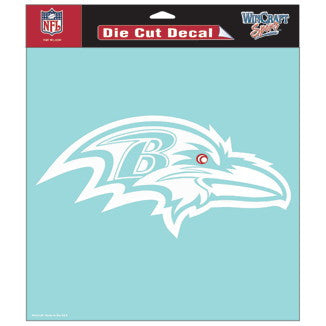 Baltimore Ravens Car Window Sticker Decal 8x8 Inches