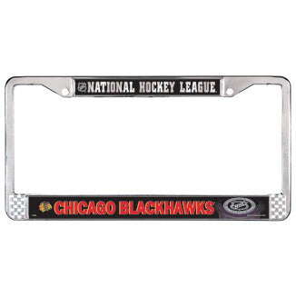 Chicago Blackhawks Chrome Metal License Plate Frame