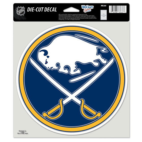 Buffalo Sabres Full Color Car Window Sticker Decal 8x8 Inches