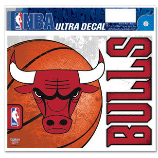 Chicago Bulls Window Decal 5x6 Size