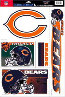 Chicago Bears Decals Window Clings