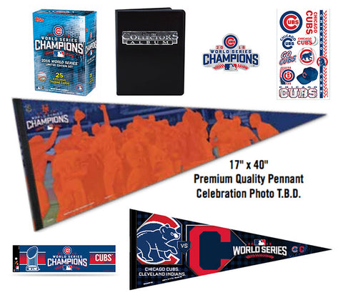 CHICAGO CUBS 2016 WORLD SERIES CHAMPIONS PLATINUM DELUXE COMBO PACK