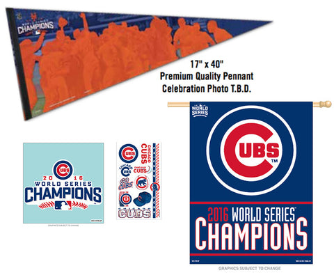CHICAGO CUBS 2016 WORLD SERIES CHAMPIONS WINNERS COMBO PACK