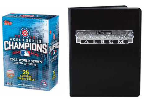 CHICAGO CUBS 2016 WORLD SERIES CHAMPIONS LIMITED EDITION TEAM SET & BINDER