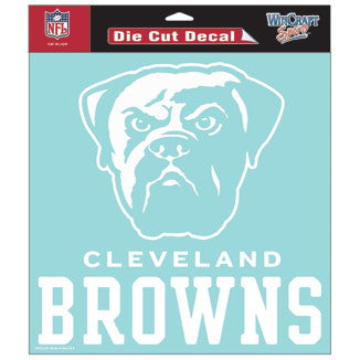 Cleveland Browns Car Window Sticker Decal 8x8 Inches