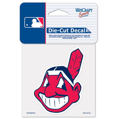 Cleveland Indians Full Color Car Window Sticker Decal 4x4 Inches