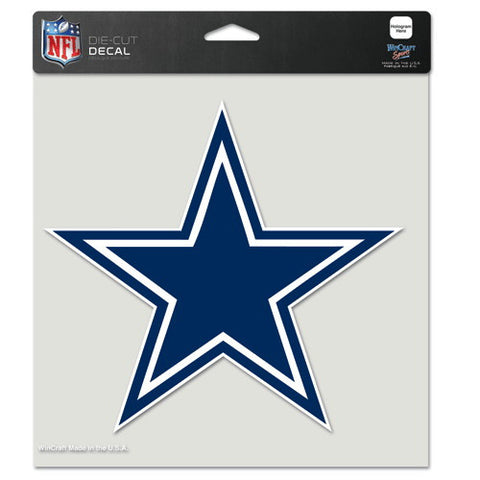 Dallas Cowboys Full Color Car Window Sticker Decal 8x8 Inches