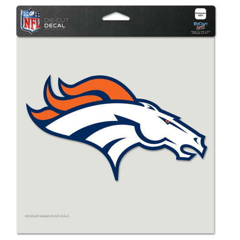 Denver Broncos Full Color Car Window Sticker Decal 8x8 Inches