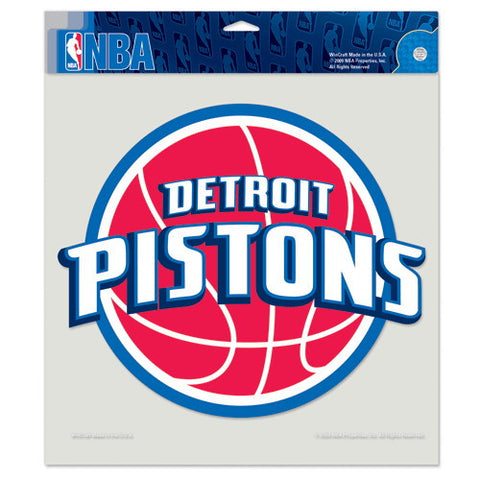 Detroit Pistons Full Color Car Window Sticker Decal 8x8 Inches