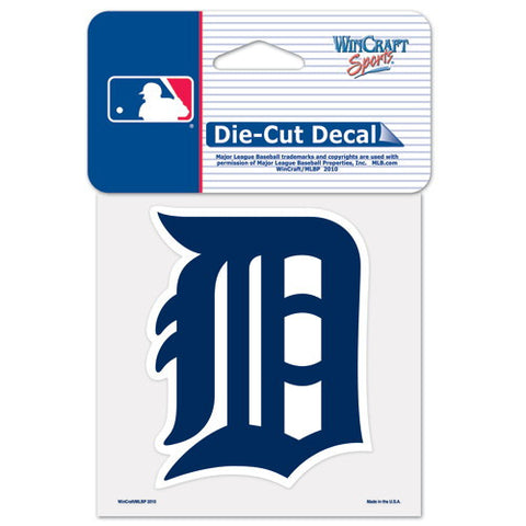 Detroit Tigers Full Color Car Window Sticker Decal 4x4 Inches